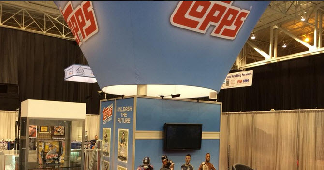 Topps NSCC booth