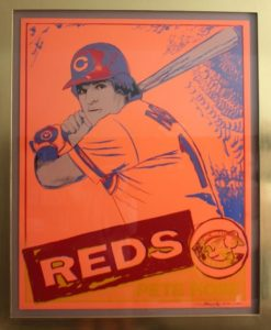 Andy Warhol trial proof serigraph of Pete Rose.  Each of the 30 trial proofs came in unique color combinations
