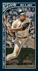 2015 Topps Gypsy Queen black parallel Willie Mays