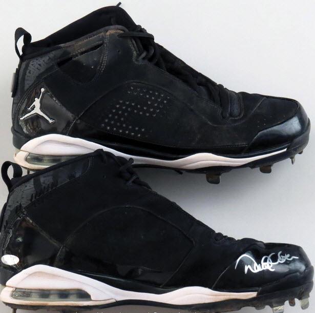 Derek Jeter game worn cleats