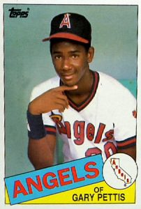 Gary Pettis brother 1985 Topps