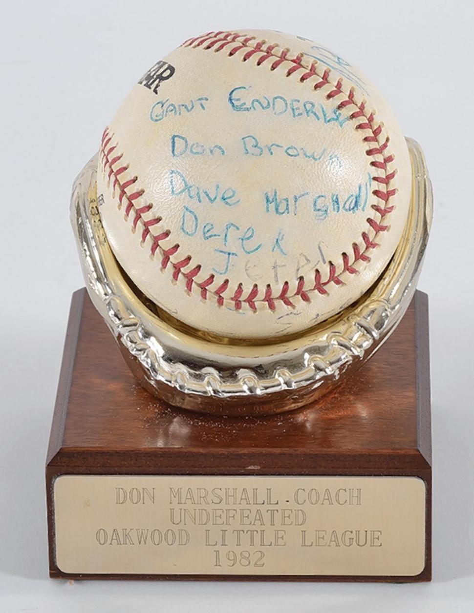 Jeter Little League autograph