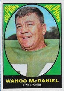 Wahoo McDaniel 1967 Topps