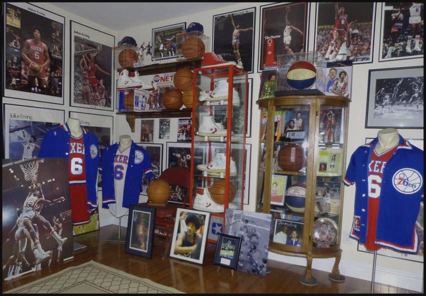 Uniforms on display memorabilia room