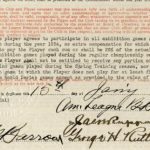 Signed Babe Ruth 1934 Yankees contract