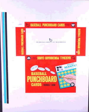 Display box 1966 Topps Punch Outs