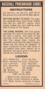 1966 Topps Punchouts Instructions