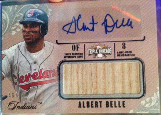 2014 Triple Threads Albert Belle auto