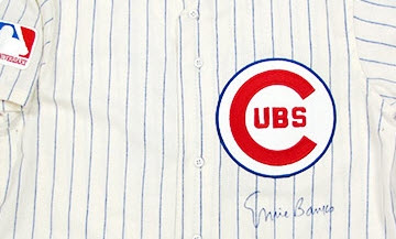 Autographed Ernie Banks jersey