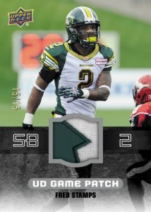 2014-Upper-Deck-CFL-Football-Game-Patch-Fred-Stamps