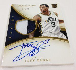 Trey Burke auto 2013-14 Panini Immaculate Basketball