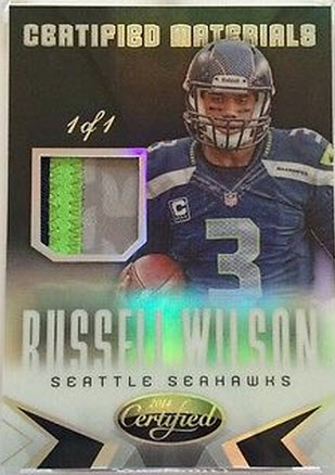 2014 Panini Certified 1-1 Russell Wilson patch