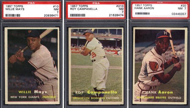 1957 Topps baseball stars