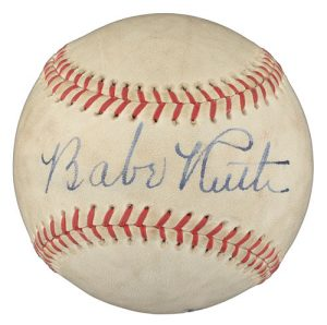 Autographed Babe Ruth ball