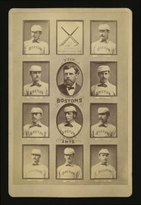 Boston 19th century cabinet baseball card