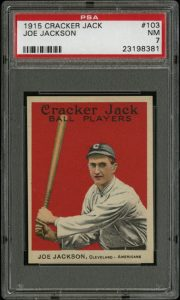 Joe Jackson Cracker Jack 1915 PSA 7