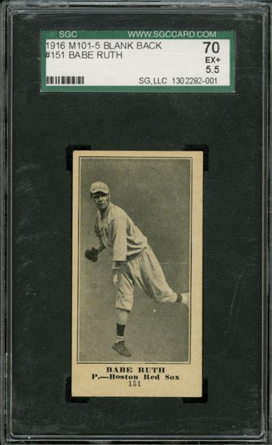 1916 Babe Ruth M101-5