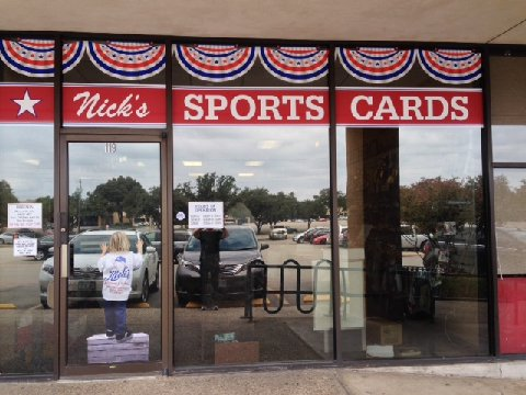 Exterior Nicks Sports Cards Dallas
