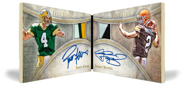Topps Five-Star autographed book relic