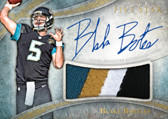 Autographed patch card Blake Bortles 2014 Topps Five-Star