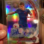 Topps Chrome MLS Dillon Powers autograph