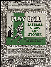 1940 Play Ball Wrapper