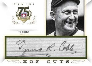 Panini Ty Cobb cut signature