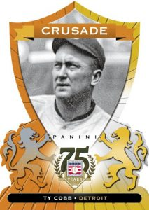 Panini Crusade Ty Cobb orange parallel