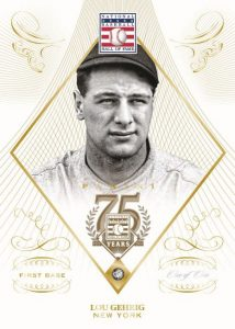 Diamond embed card Lou Gehrig