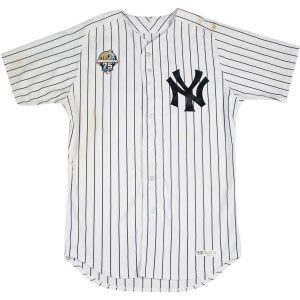 Game worn Yankees Lou Gehrig Day jersey