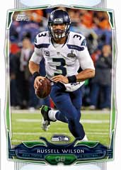 2014 Topps Football Russell Wilson base card