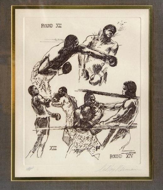 Leroy Neiman etching