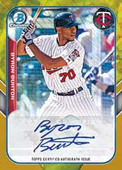 Byron Buxton 2015 Gold Shimmer Bowman auto parallel