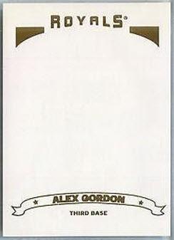 Alex Gordon error 2006 Topps