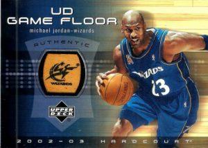 2002-03 Upper Deck Hardcourt UD Game Floor Michael Jordan