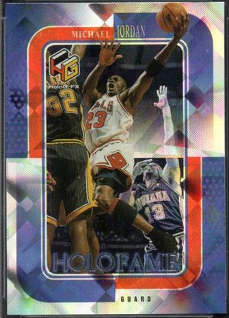 1999-2000 Upper Deck HoloGrFX Holofame Michael Jordan Card