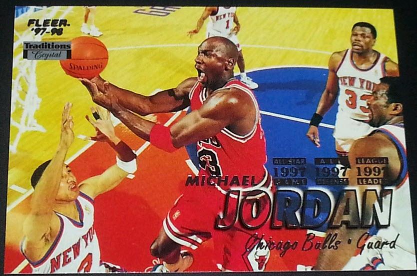 1997-98 Fleer Crystal Collection Michael Jordan