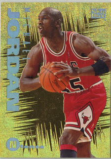 Michael Jordan Skybox eMotion nTense Card