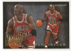 Michael Jordan Card 1993-94 Fleer Living Legends