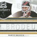 Martin Brodeur Property Of relic card