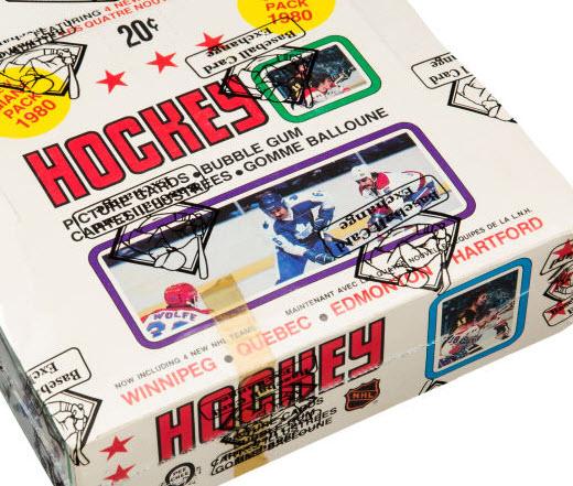 Unopened 1979-80 OPC hockey card box