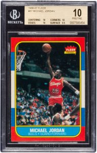 Michael Jordan rookie card BGS 10