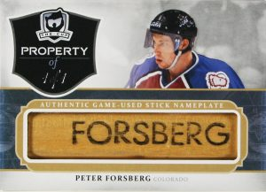 2013-14 The Cup Property Of Peter Forsberg