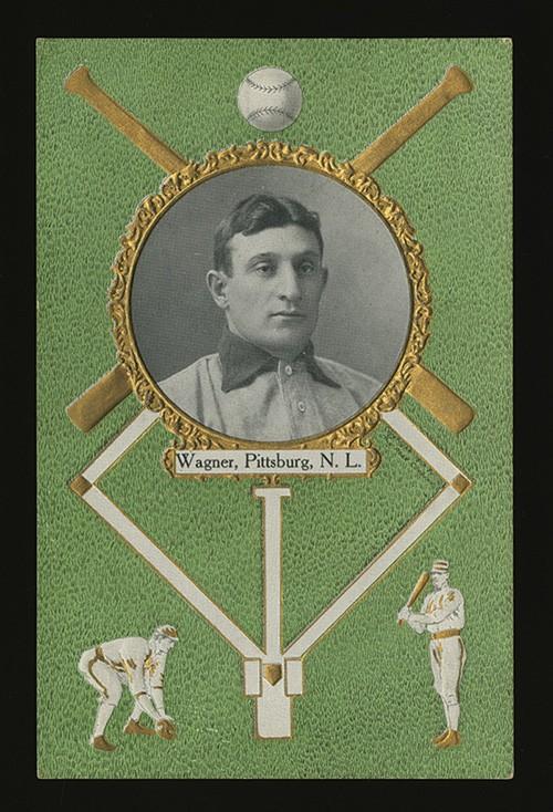 Honus Wagner 1908 Rose Co. postcard