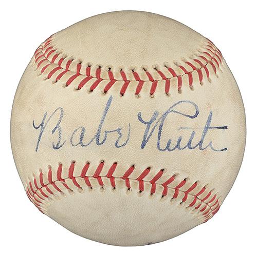 Babe Ruth signed baseball REA