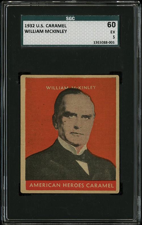 William McKinley 1932 US Caramel SGC 60