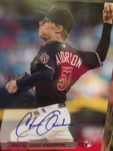 2014 Topps Stadium Club Chase Anderson auto