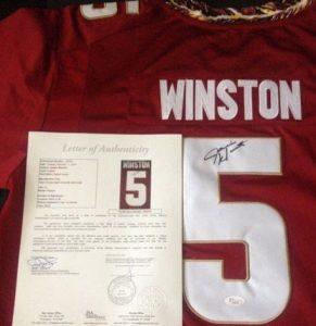 Jameis Winston autographed jersey