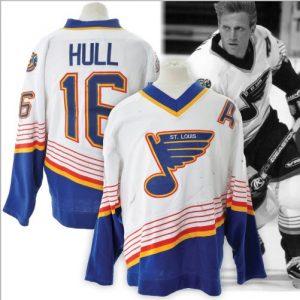 Game worn Brett Hull jersey