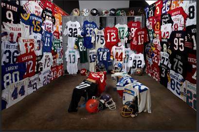 Game worn jersey collection